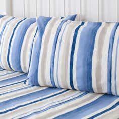 Blue Ikat Collection Oxford Pillowcase