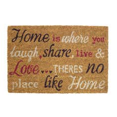 Words Coir Doormat