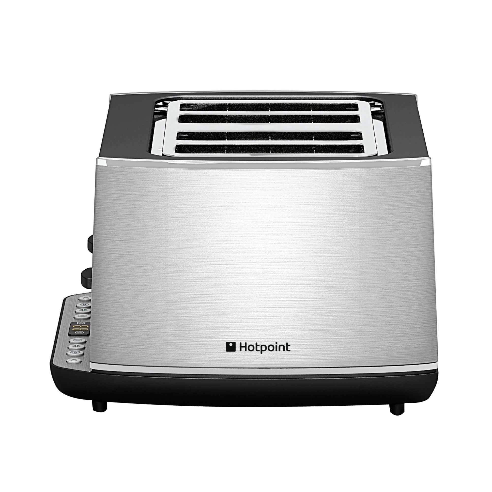 Hotpoint TT44EAXO Stainless Steel Silver 4 Slice Digital Toaster