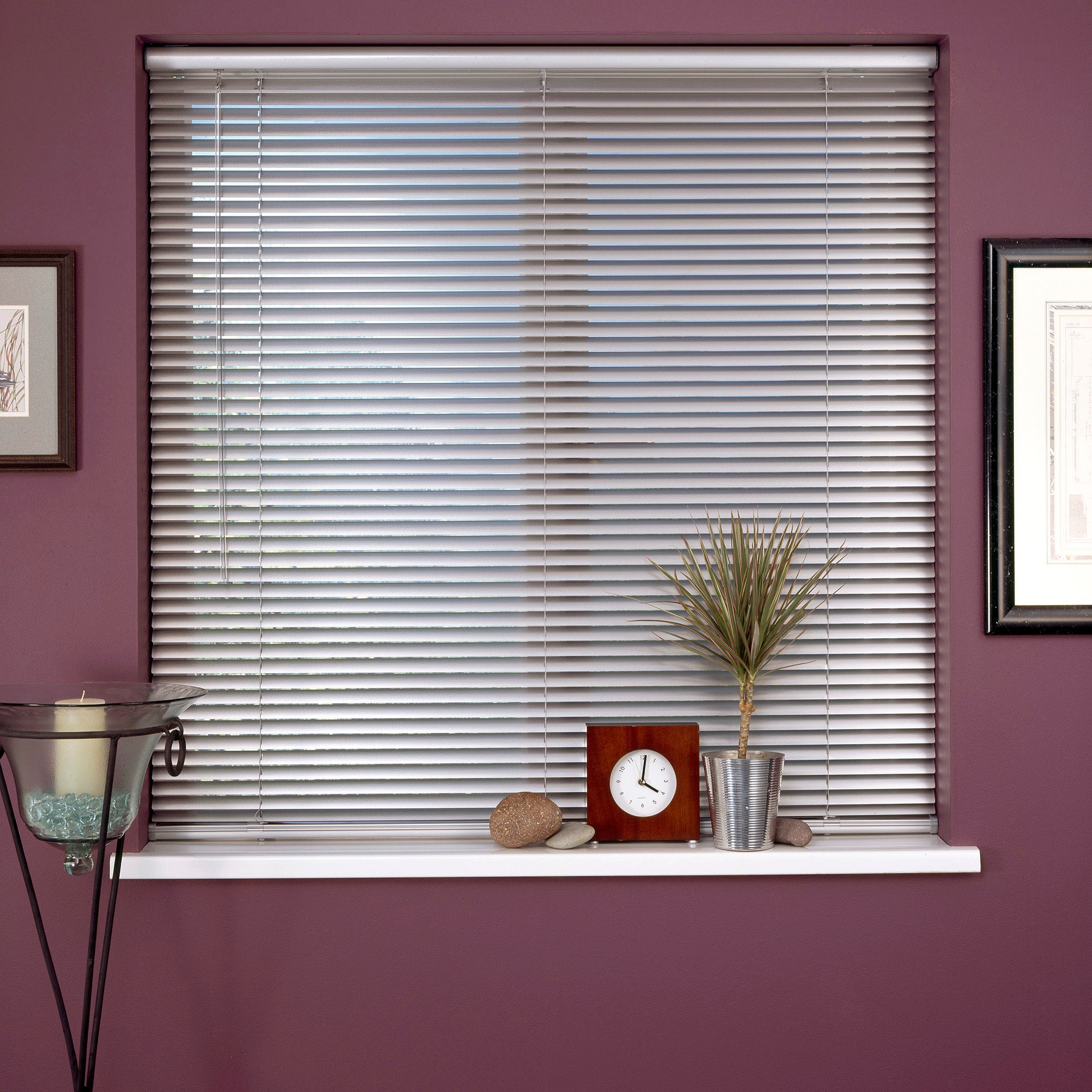 white cordless aluminium venetian blind dunelm. Black Bedroom Furniture Sets. Home Design Ideas