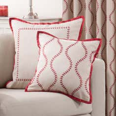 Red Trailing Petal Collection Cushion