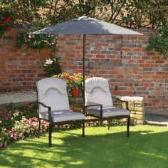 Oakland Duo Seat with Parasol