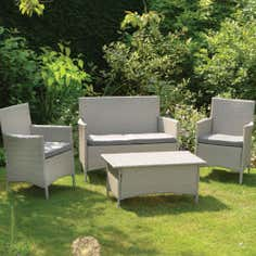 Ventura Antique Rattan 4 Seater Garden Conversation Set