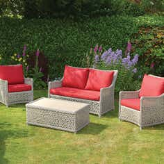 Antibes Deluxe 4 Seater Garden Conversation Set