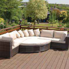 Cordoba Rattan Garden Corner and Sofa Set