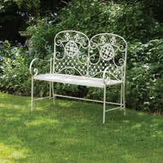 Amelia White 2 Seater Garden Bench