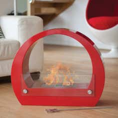 La Hacienda Red Ovalis Fireplace