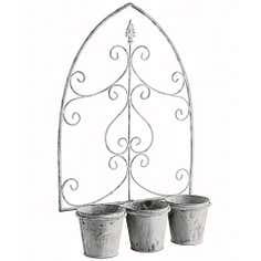 Loire Collection Triple Pot Wall Planter
