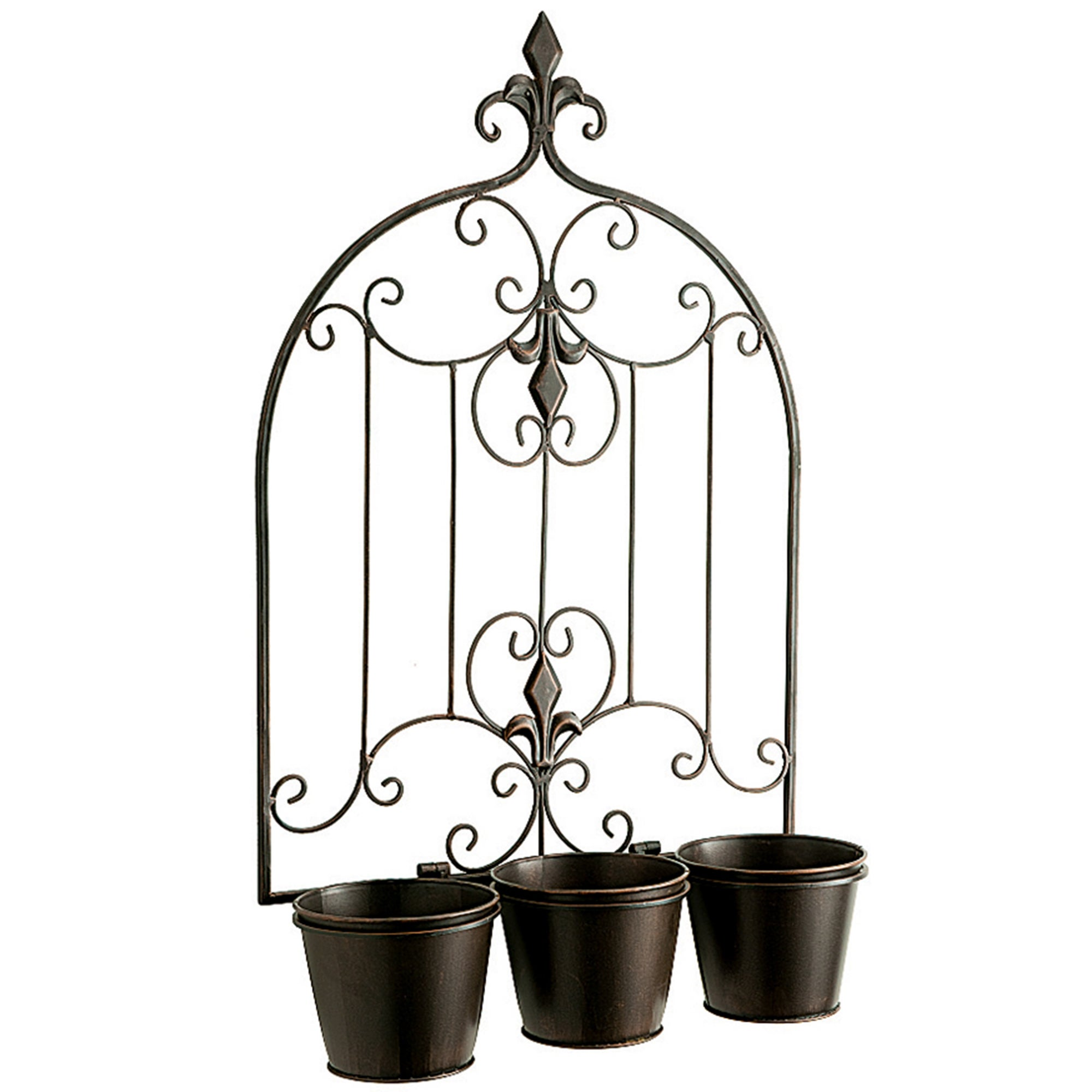 Versailles Collection Triple Pot Wall Planter