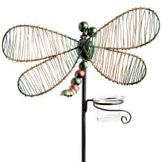 Dragonfly Tea Light Holder Border Stake