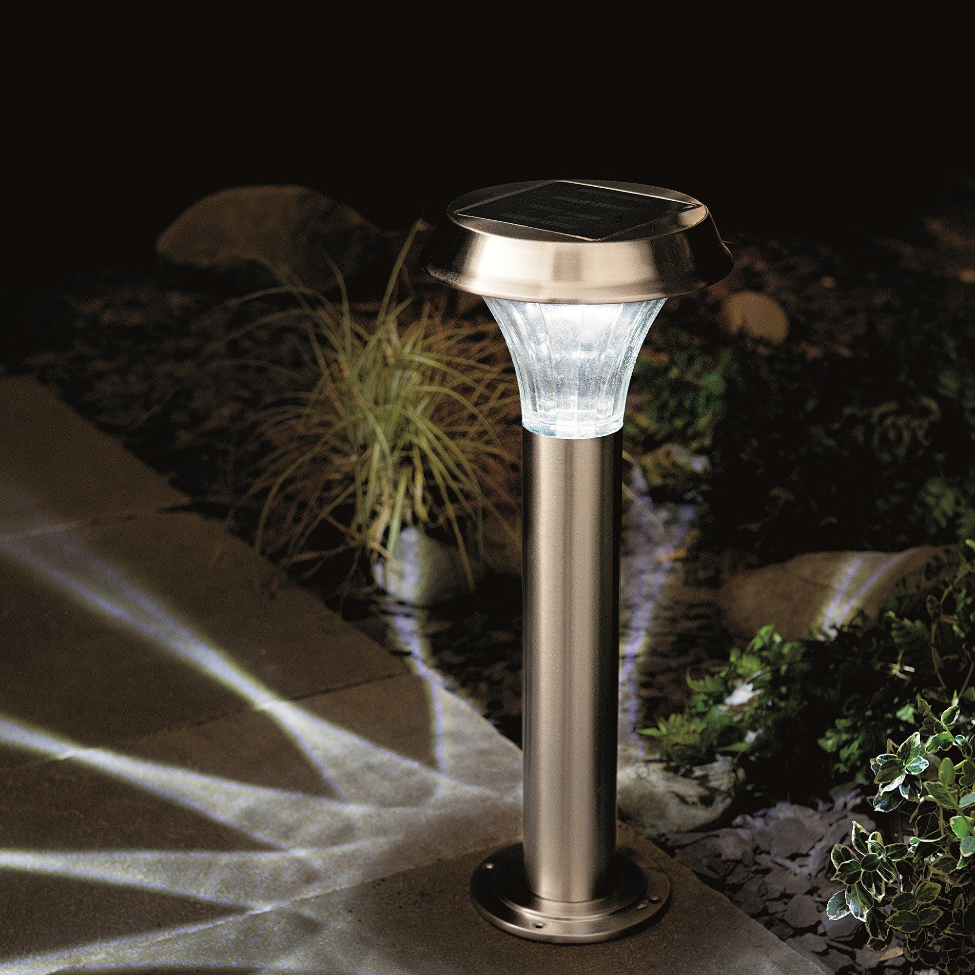 Solar Stainless Steel Post Light