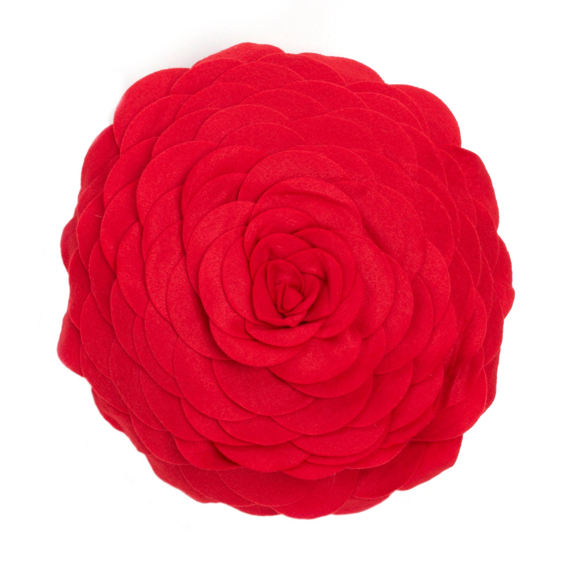 Red Rosie Felt Cushion