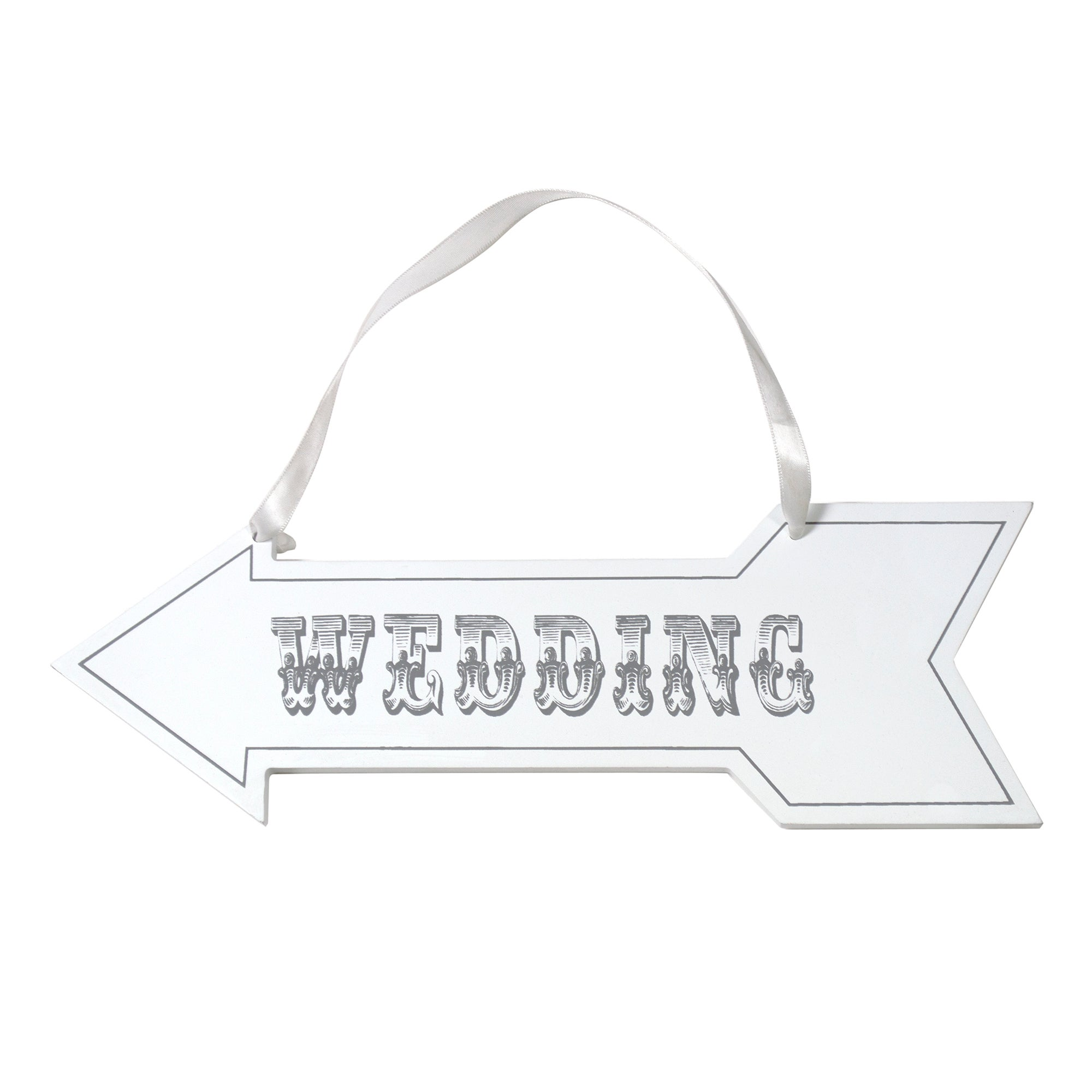Wedding Arrow Hanging Plaque