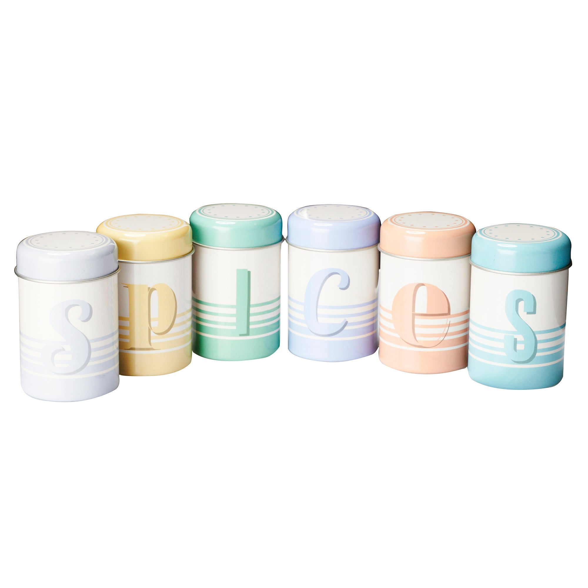 Jamie Oliver Set of 6 Spice Tins