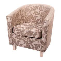 Natural Acanthus Floral Tub Chair