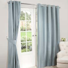 Duck Egg Nova Blackout Eyelet Curtains