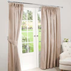 Champagne Nova Blackout Pencil Pleat Curtains
