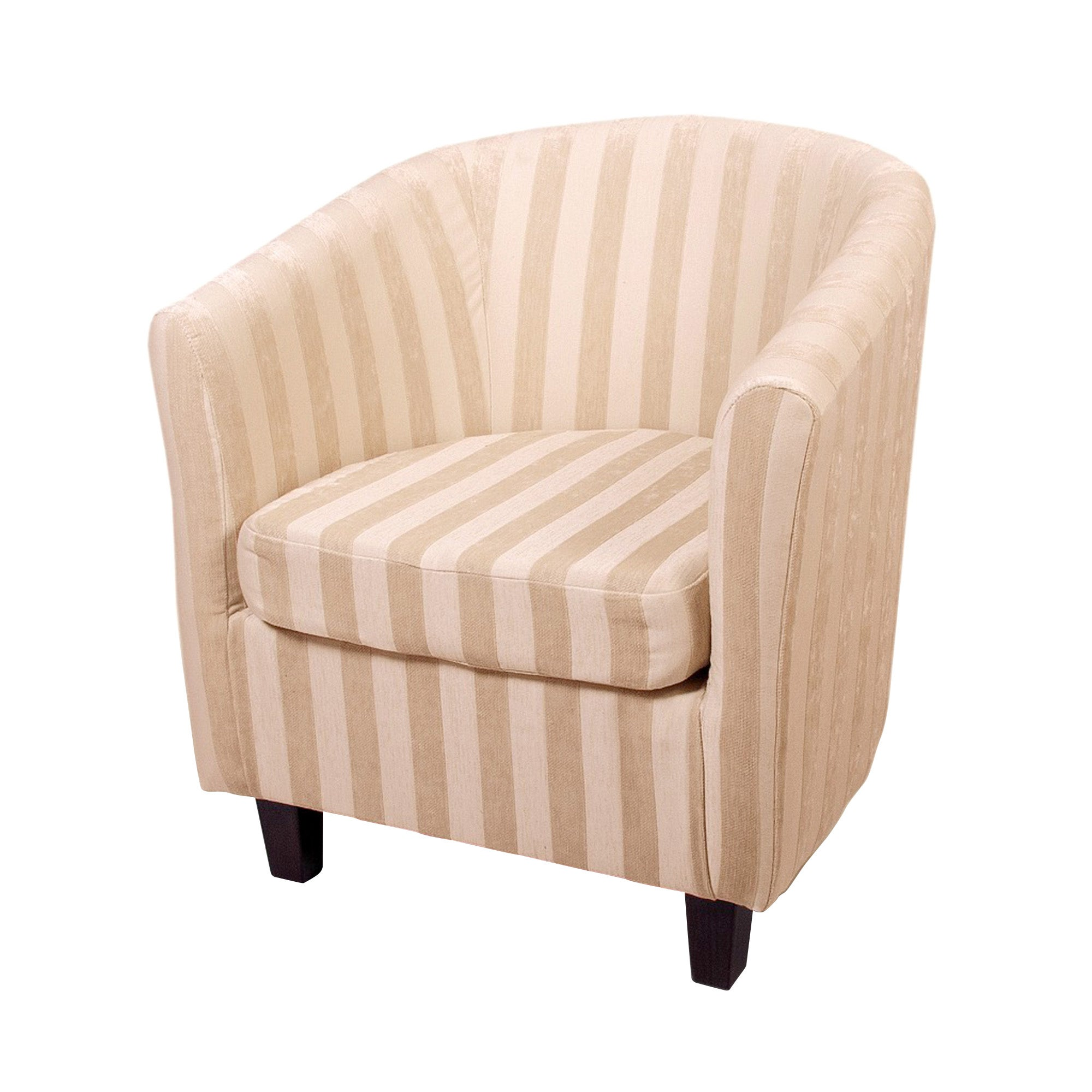 Natural Mayfair Stripe Tub Chair