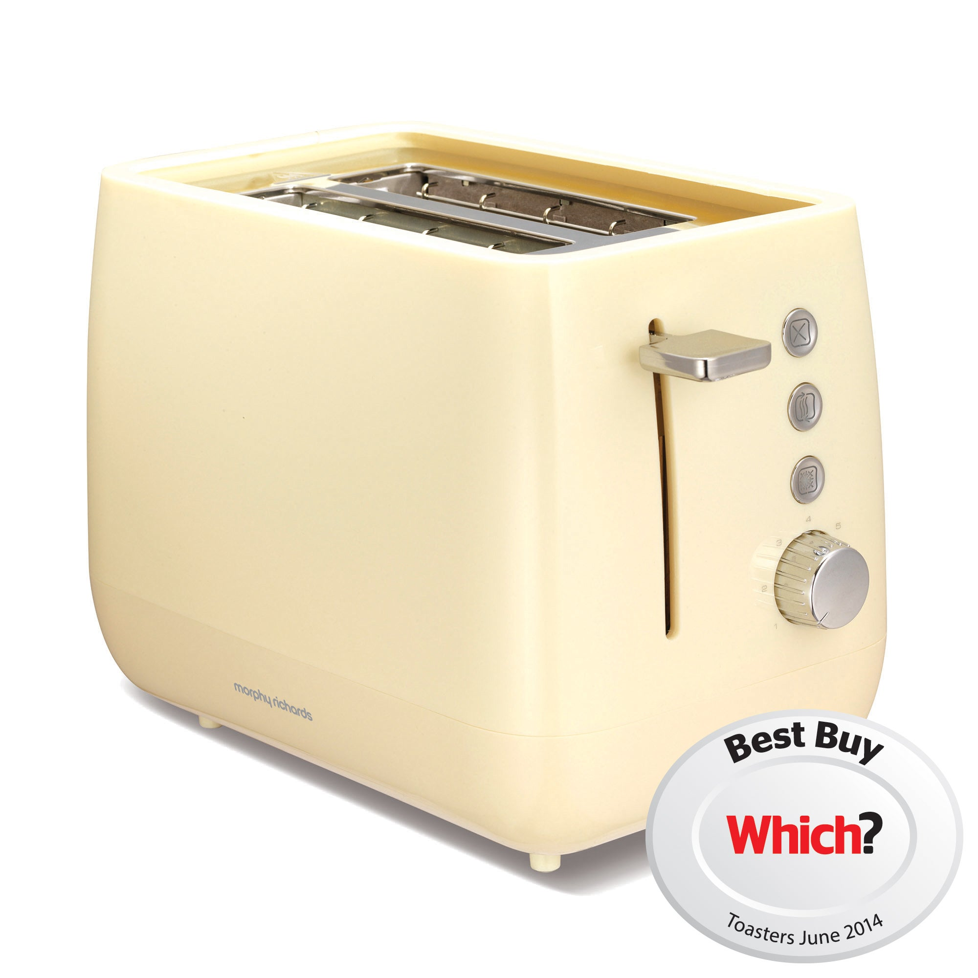 Morphy Richards Chroma 221105 Cream 2 Slice Toaster