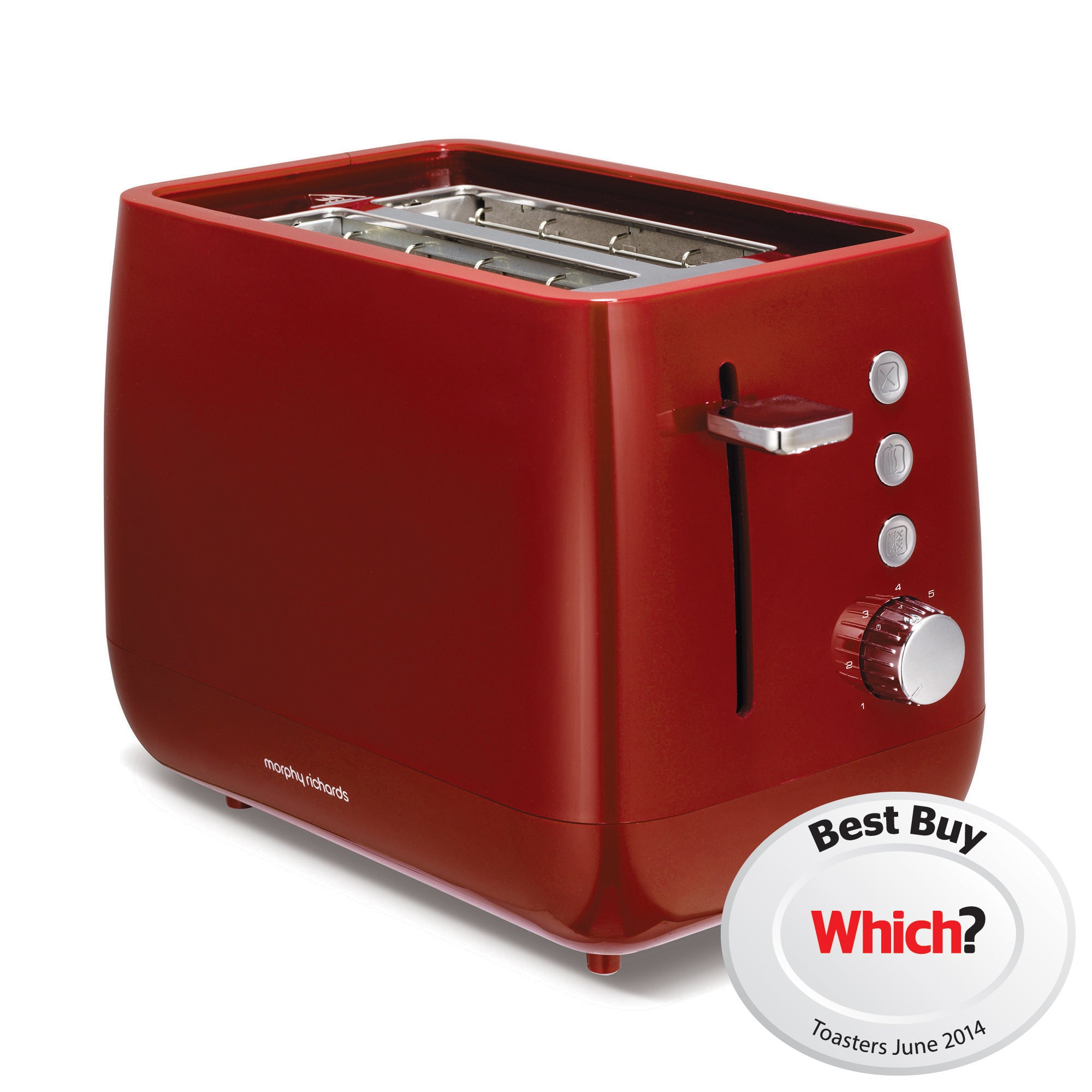Morphy Richards Chroma 221104 Red 2 Slice Toaster