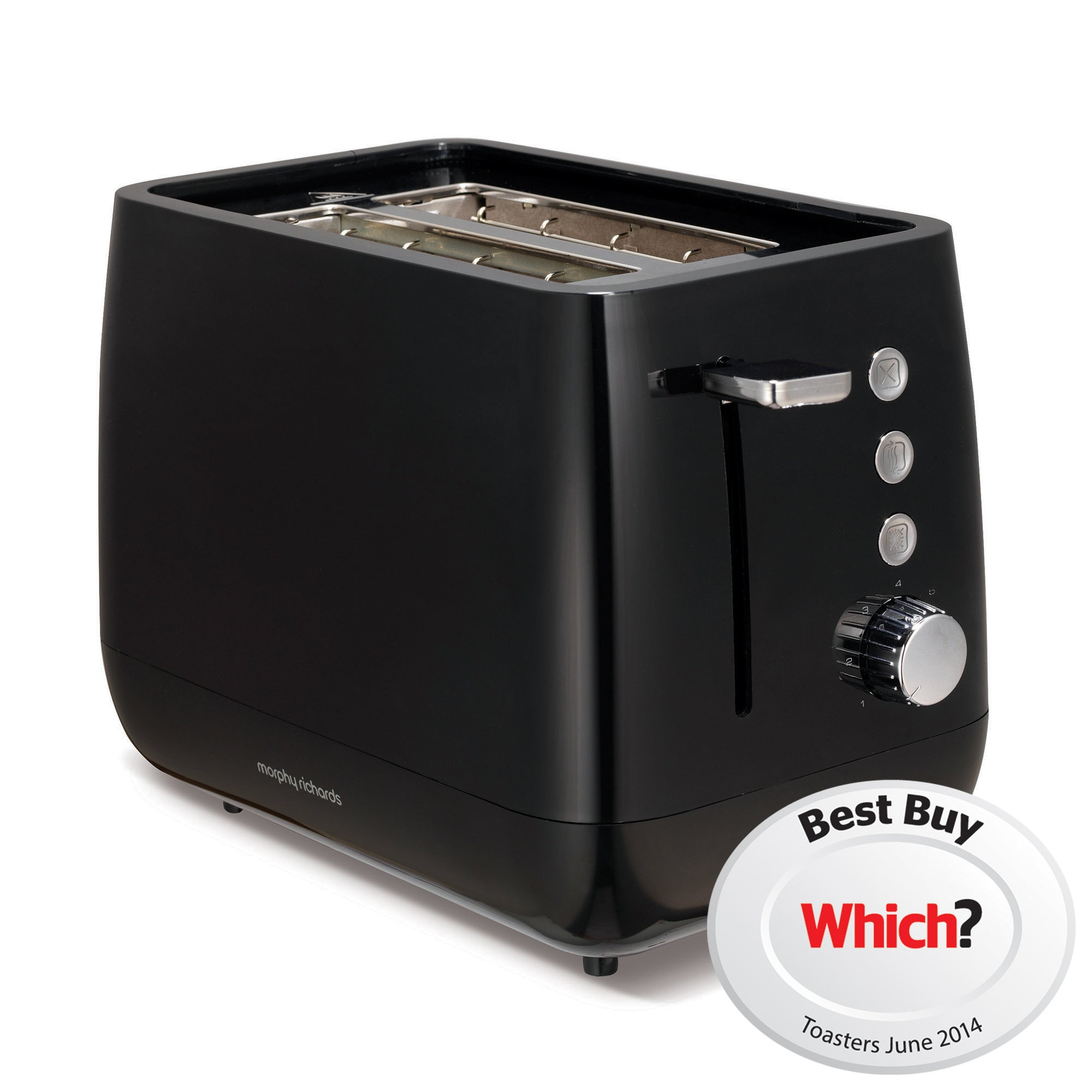 Morphy Richards Chroma Black 2 Slice Toaster
