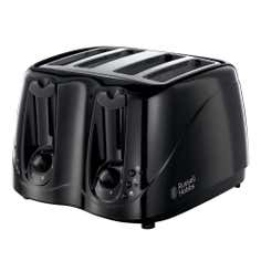 Russell Hobbs Buxton 4 Slice Black Toaster