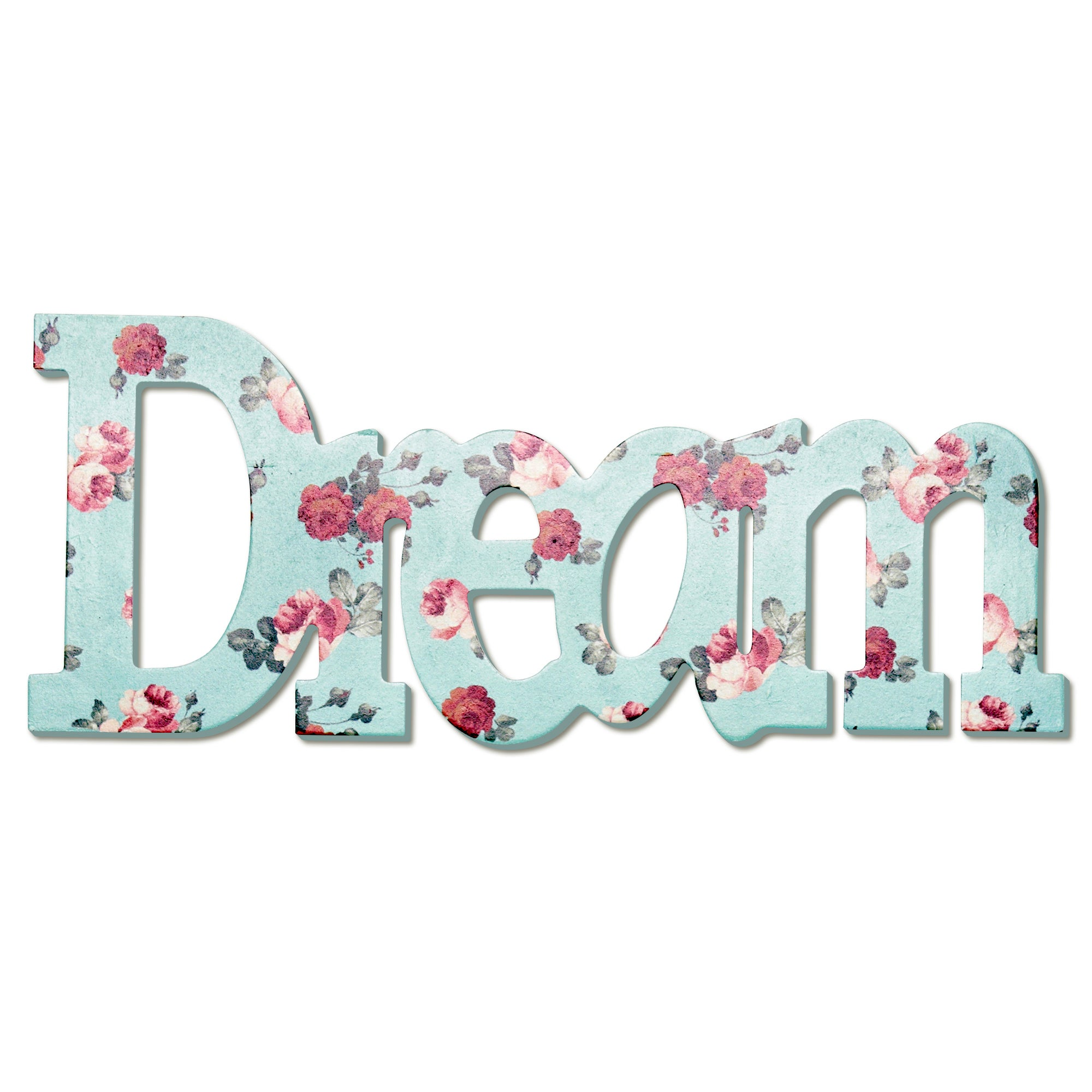 Vintage Green Floral Collection Dream Wooden Word