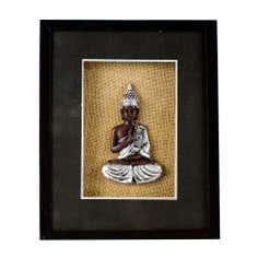 Black Shadow Box With Buddha