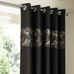 Black Zetta Collection Thermal Eyelet Curtains
