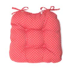 Orchard Collection Dotty Red Seat Pad
