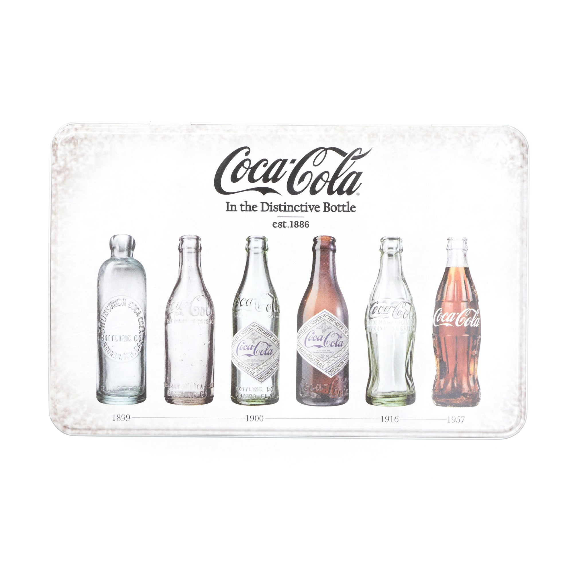 Coca Cola Retro Bottles Storage Tin