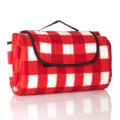 Red Gingham Foldaway Picnic Mat