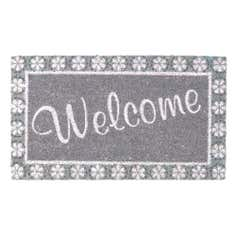 Floral Welcome Coir Doormat