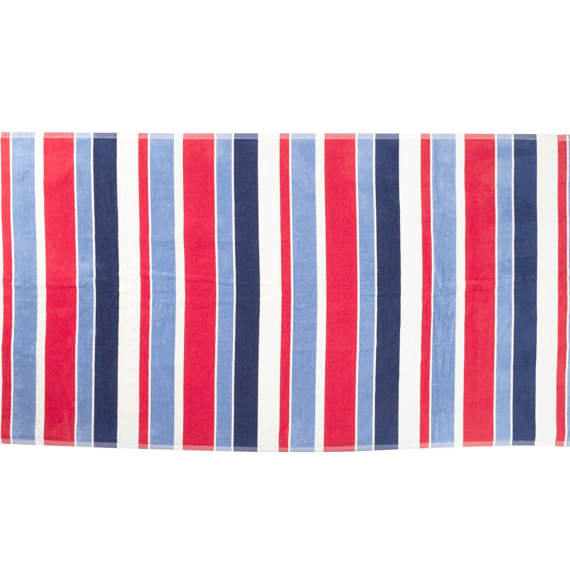 Nautical Stripe Beach Towel