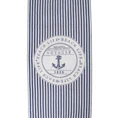 Blue Nautical Anchor Beach Towel