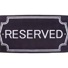 Black Reserved Beach Towel