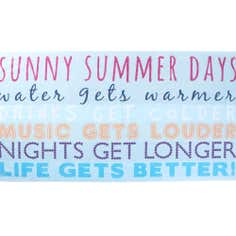Blue Summer Days Beach Towel