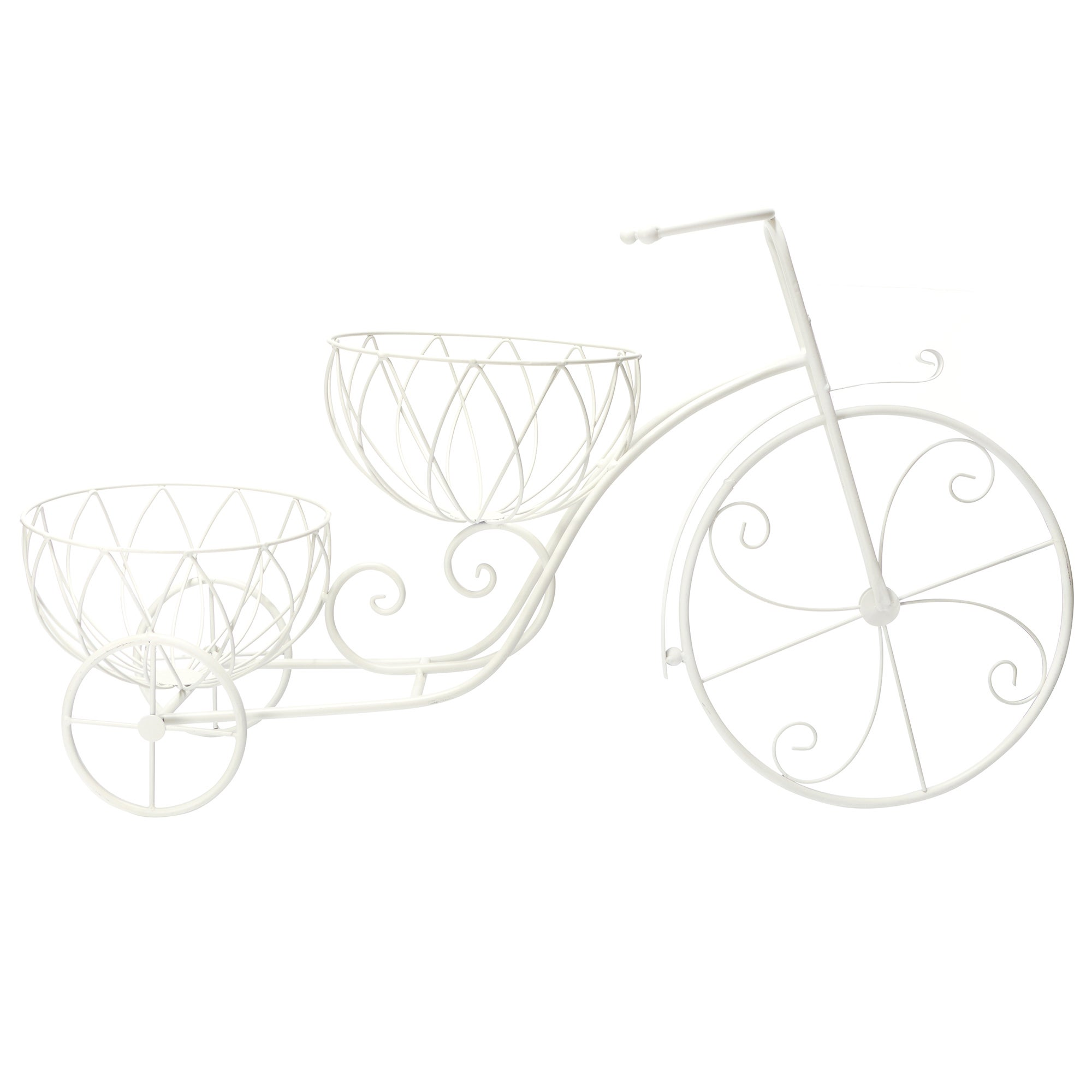 2 Tier Cream Bike Plant Stand