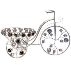 Silver Bike Plant Stand