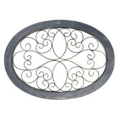 Metal Oval Garden Wall Art