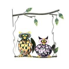Swinging Owls Outdoor Wall Art