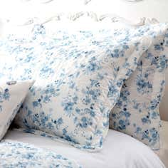 Blue Jasmin Collection Pillow Sham