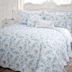 Blue Jasmin Collection Bedspread