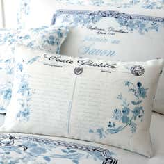 Blue Jasmin Collection Boudoir Cushion