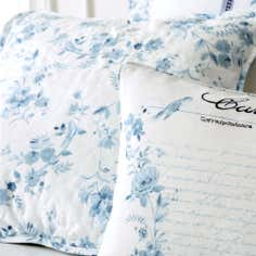 Blue Jasmin Collection Square Cushion