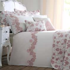 Dusky Pink Phoebe Collection Duvet Cover
