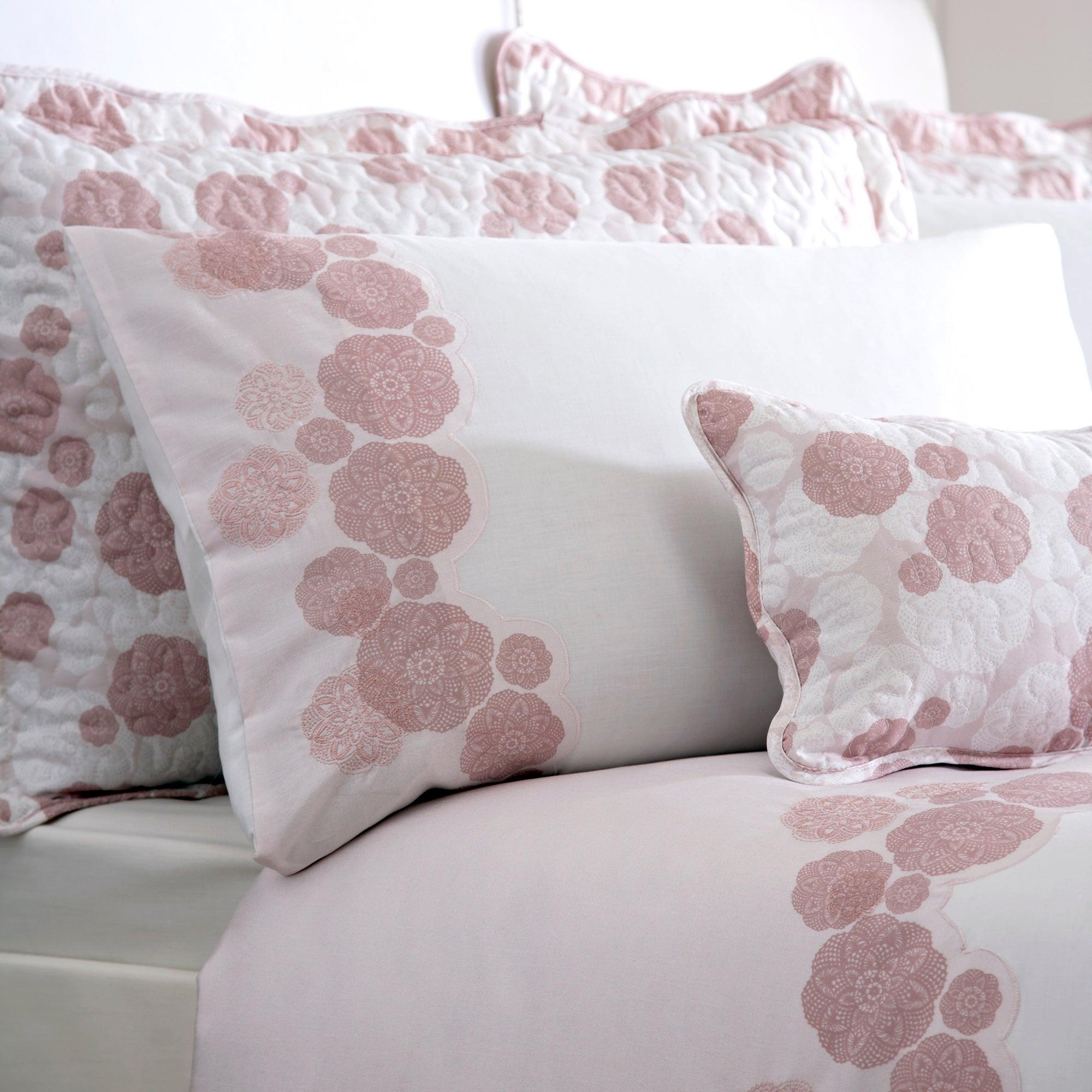 Dusky Pink Phoebe Housewife Pillowcase