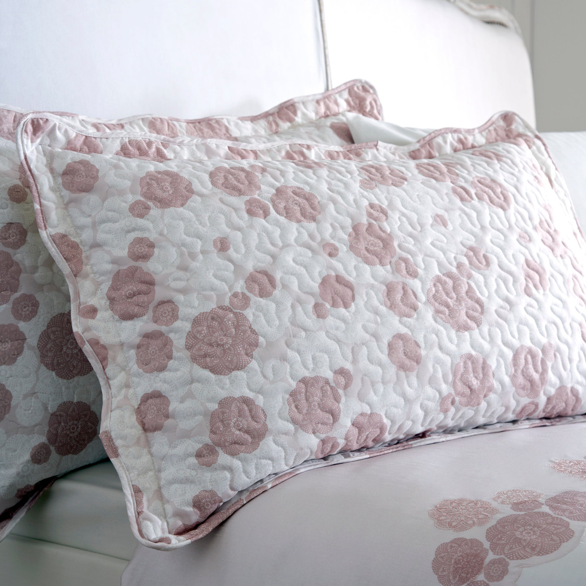 Dusky Pink Phoebe Collection Pillow Sham