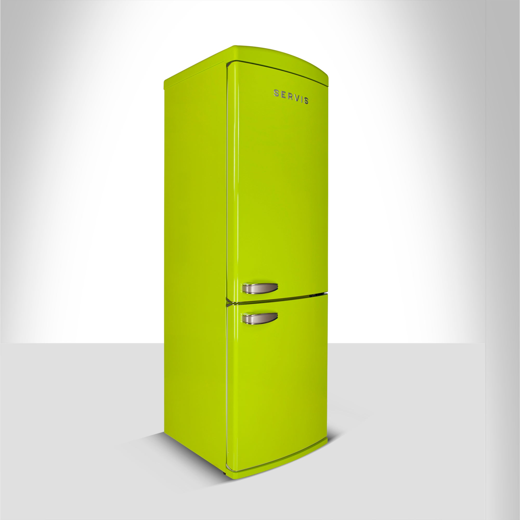 Servis C60185NFPT Green Retro Style Fridge Freezer Green