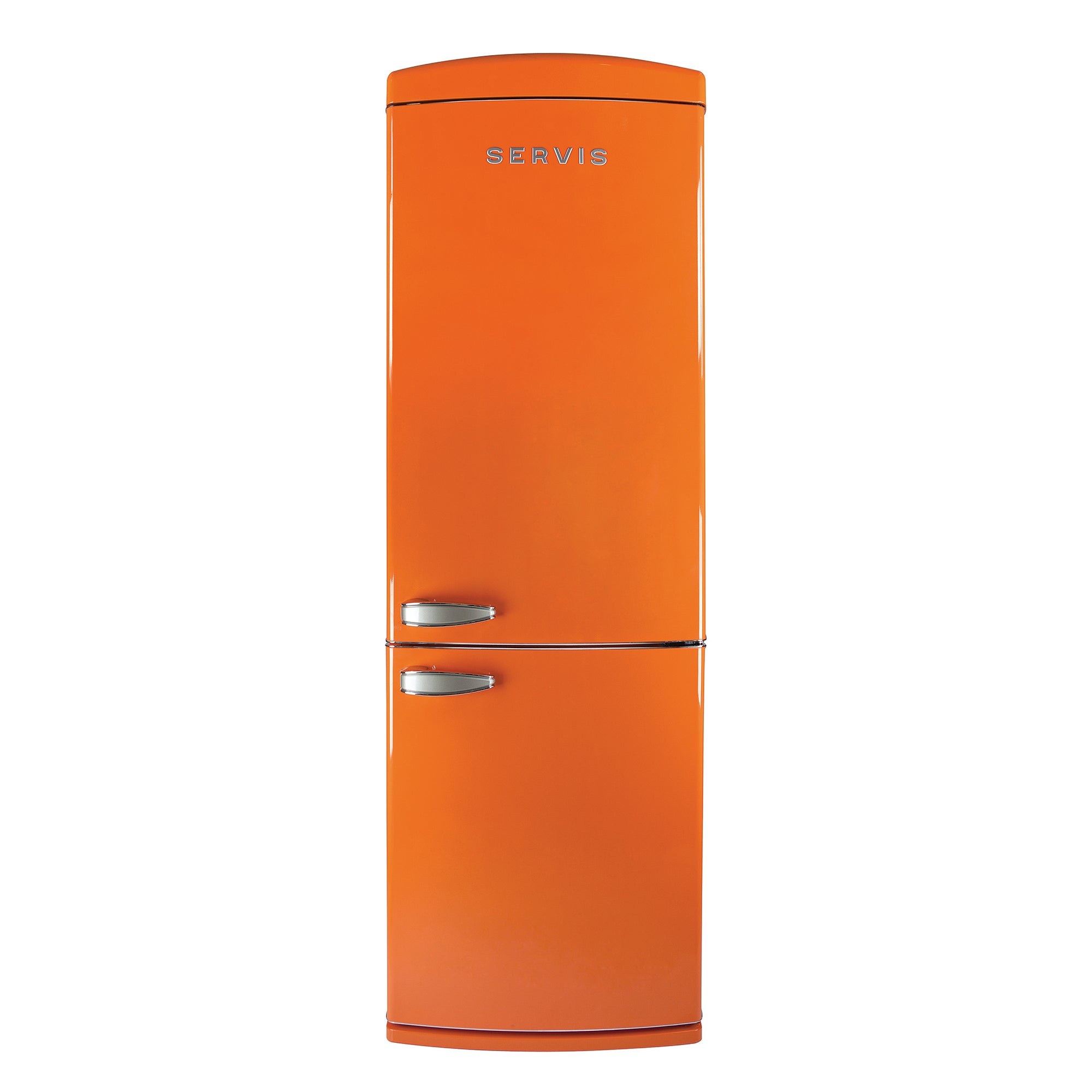 Servis C60185NFTG Orange Retro Style Fridge Freezer Orange